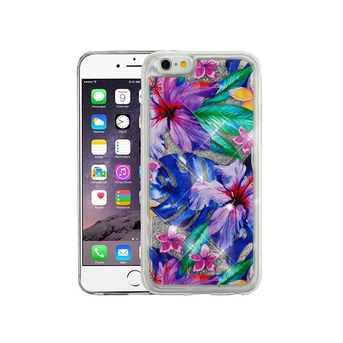 Shop Insten For Apple Iphone 6 Plus 6s Plus Multi Color Hibiscus