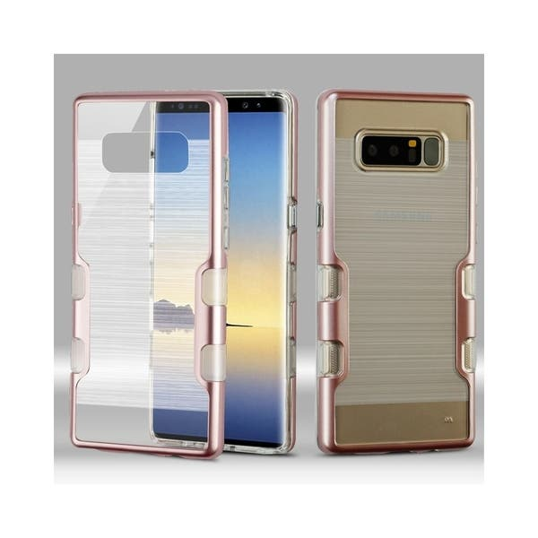 Shop Insten For Samsung Galaxy Note 8 Clear Rose Gold Tuff