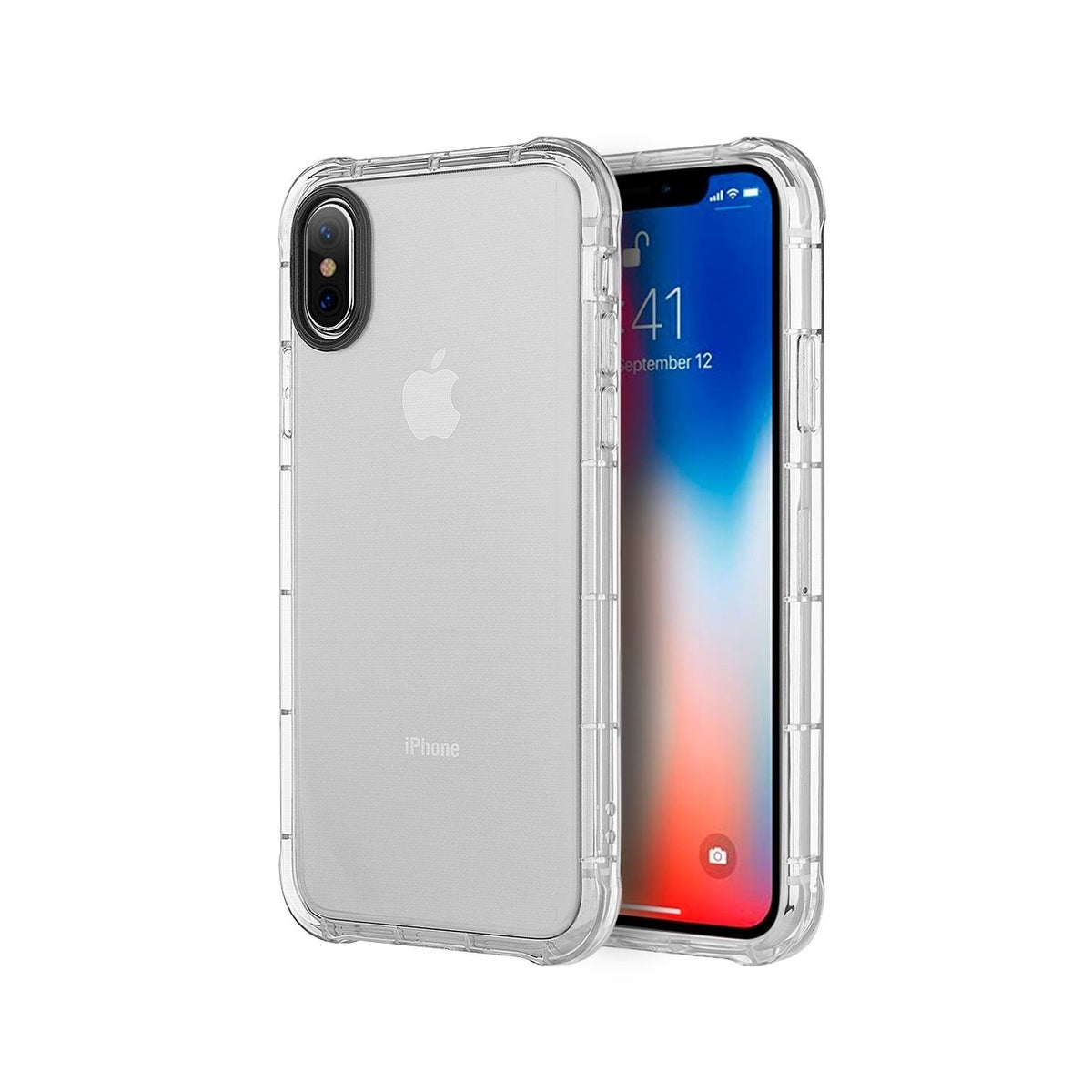 buy popular 0ddcb 8aeb9 Insten For Apple iPhone X/XS Clear Shockproof TPU Rubber Candy Skin Case  Cover