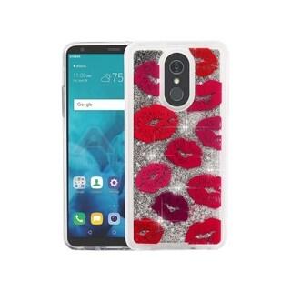 Insten For LG Stylo 4 Multi-Color Blissful Kisses Quicksand Glitter Hard TPU Case