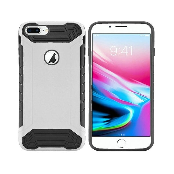 online store c73b9 7a760 Insten For Apple iPhone 8 Plus White Black Slim Armor Hard TPU Hybrid Case  Cover
