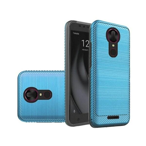 Shop Insten For Coolpad Revvl Plus (T-Mobile) Dark Blue Hard TPU