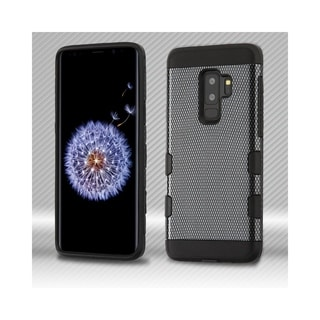Insten For Samsung Galaxy S9 Plus Black Carbon Fiber Hard Hybrid Case Cover