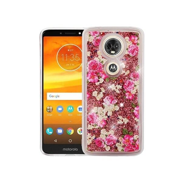 pick up 87023 9a06b Insten For Motorola Moto E5 Plus/ E5 Supra Multi-Color European Rose Hard  Case