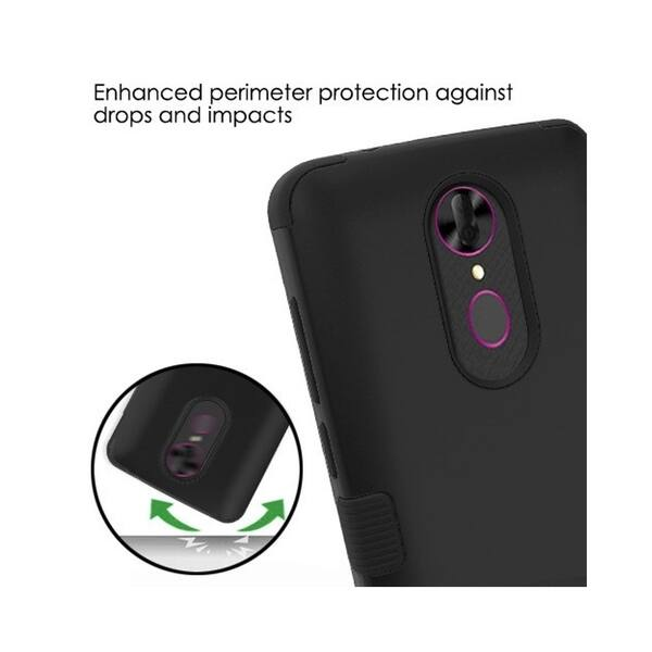 Shop Insten For Alcatel Revvl Plus Black Tuff Hard TPU