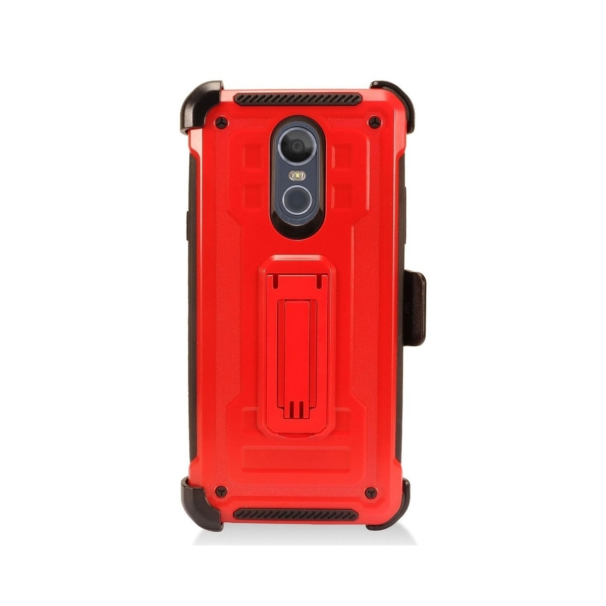 best website d0434 5b7aa Insten For LG Stylo 4 Red Hard TPU Hybrid Plastic Case Cover with stand