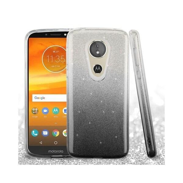 8d137854b00e Insten For Motorola Moto E5 Plus E5 supra Black Hard Hybrid Case Cover