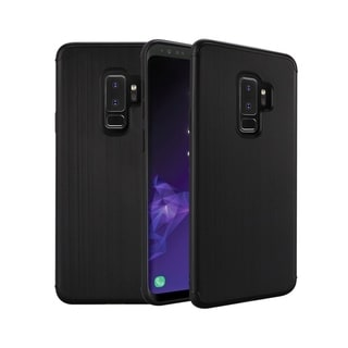 Insten For Samsung Galaxy S9 Plus Black Hard Plastic Brushed Case Cover
