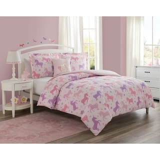 Unicorn Starlight 4pc Comforter Set with decorative pillow
