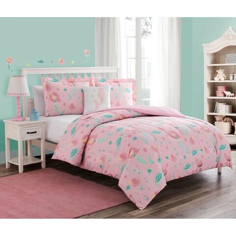 Sea Princess 4pc Comforter Set with decorative pillow