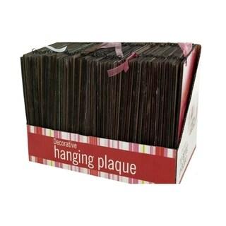 Bulk Buys Decorative Inspirational Hanging Plaque Display - 24 Pack