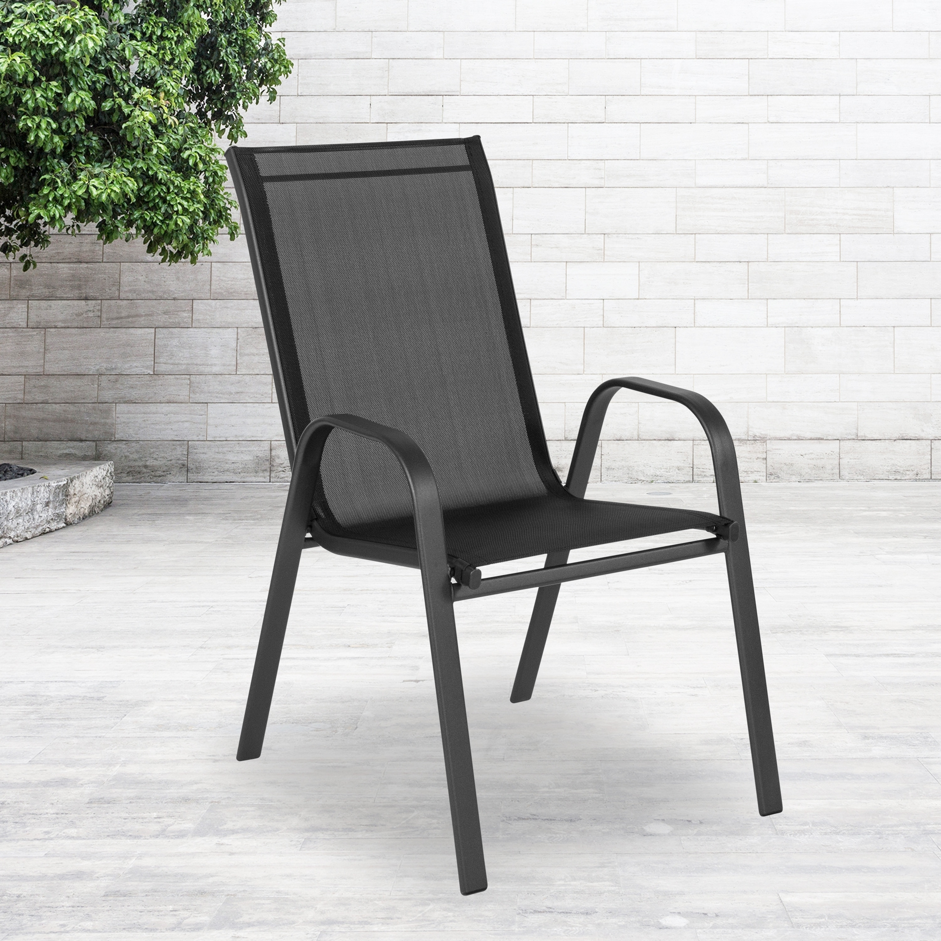 Outdoor Stack Chair With Flex Comfort