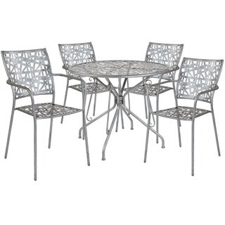 Lancaster Home Stainless Steel 5-piece Table and Chairs Set