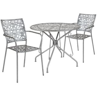Lancaster Home 2-chair 1-table Outdoor Dining Set - 35.25 Round