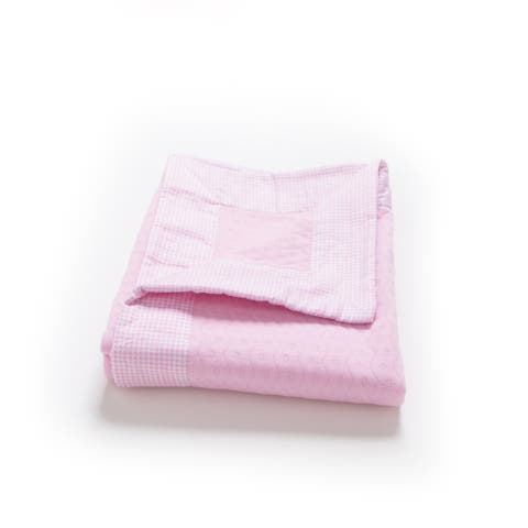 Cotton Baby Double Layer Blanket - Pink