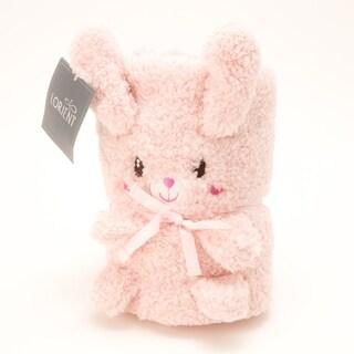 Baby Sherpa Animal Blanket - Pink Bunny