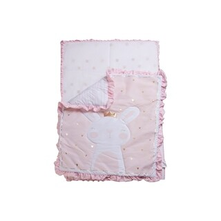 3 Piece Crib Baby Bedding Set - Pink Bunny