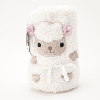 Baby Sherpa Animal Blanket - Ivory Sheep
