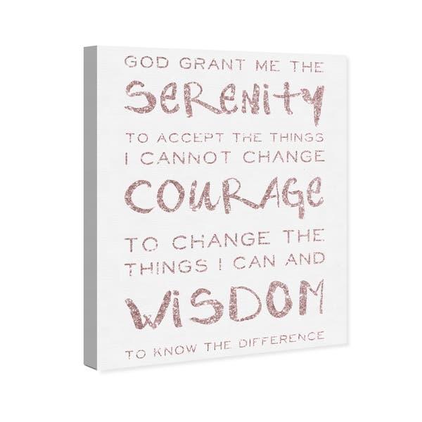 Shop Oliver Gal \'Serenity Prayer Blush and White\' Typography ...