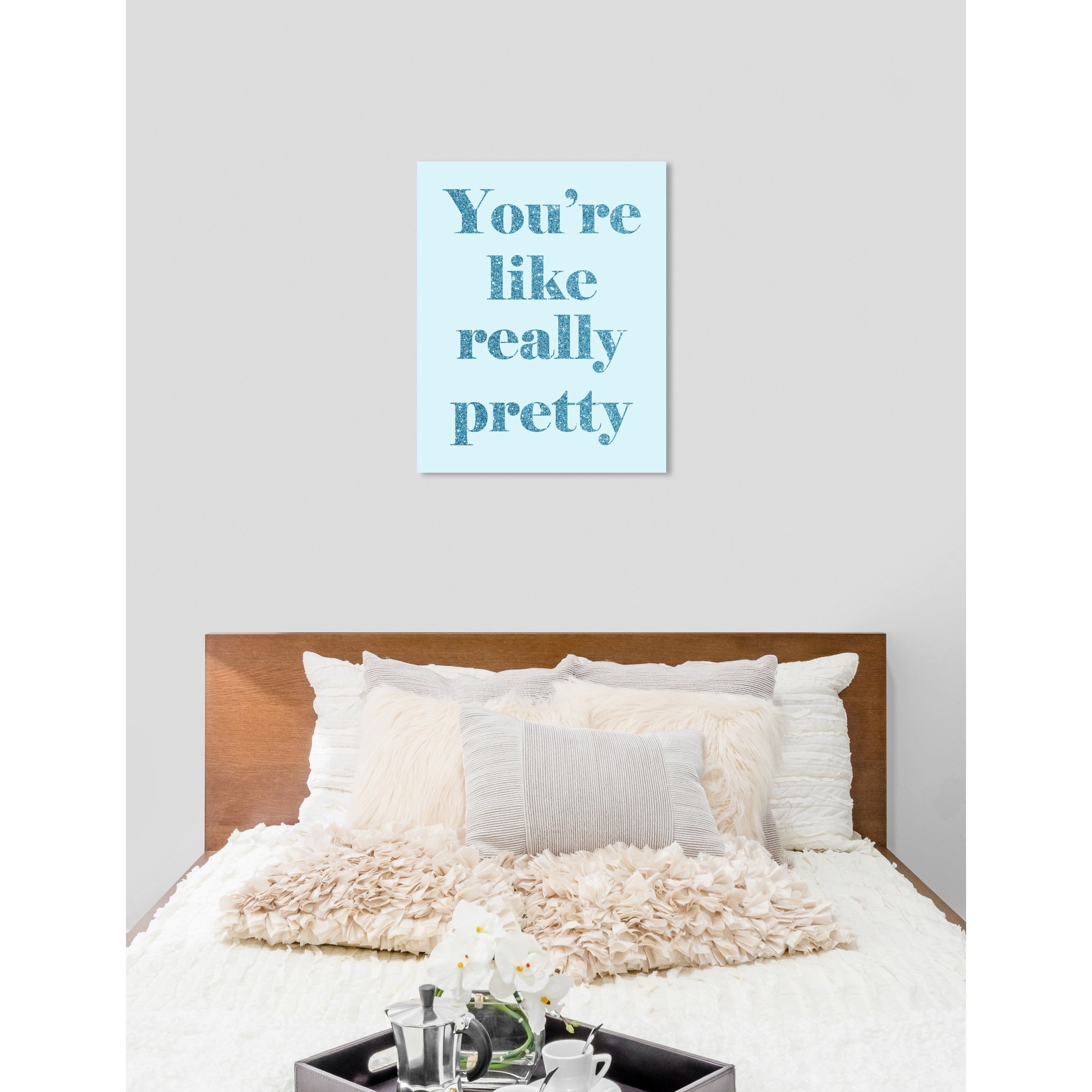 Oliver Gal You Are Really Pretty Typography And Quotes Wall Art Canvas Print Blue