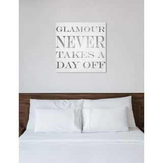 Oliver Gal 'Glamour Schedule' Fashion and Glam Wall Art Canvas Print - Gray, White
