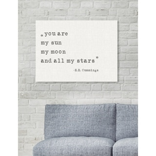 Oliver Gal 'My Sun My Moon' Typography and Quotes Wall Art Canvas Print - White