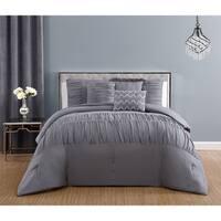 Silver Orchid Alba Microfiber Grey Comforter Set