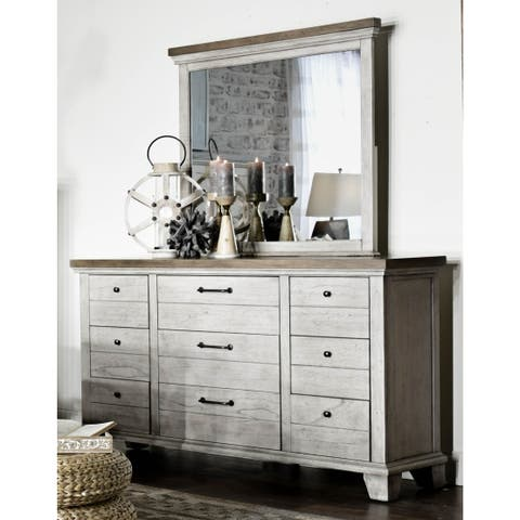 The Gray Barn Overlook Two-tone Dresser and Mirror