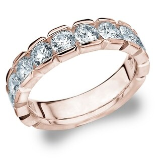 2CT Classic Lab Grown Diamond Ring in Rose Gold, E-F / VS