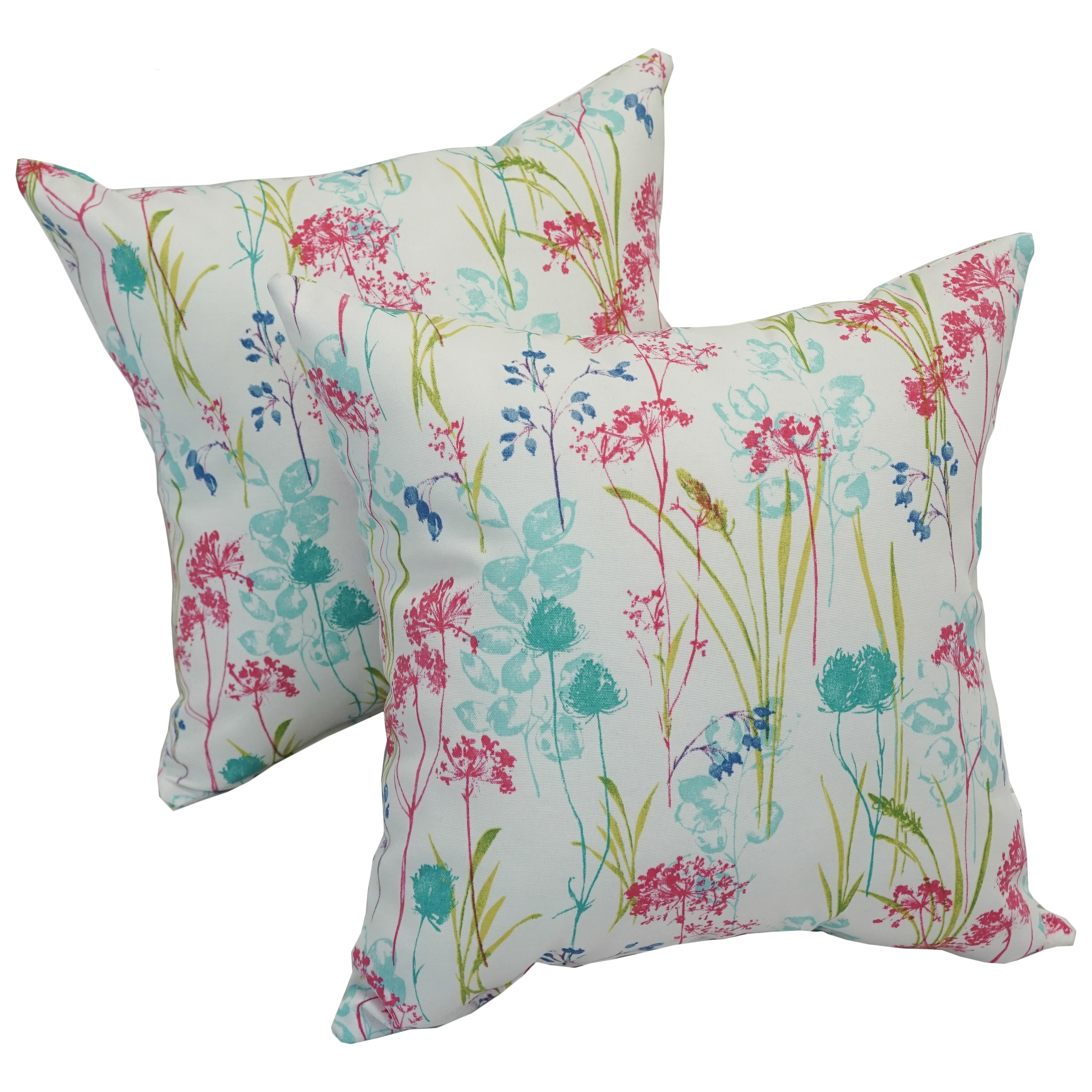 Outdoor Pillows Set Of 2.Solarium Windbloom 17 Inch Indoor Outdoor Throw Pillows Set Of 2