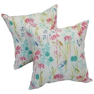 Solarium Windbloom 17-inch Indoor/Outdoor Throw Pillows (Set of 2)