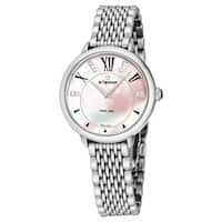 Eterna Women's 2800.41.76.1743 'Eternity' Pink Mother of Pearl Diamond Dial Stainless Steel Quartz Watch