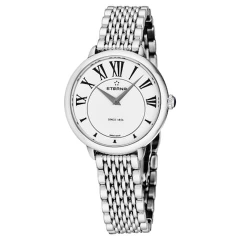 Eterna Women's 2800.41.62.1743 'Eternity' White Dial Stainless Steel Quartz Watch