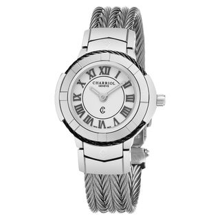 Link to Charriol Women's CE426SB.640.007 'Celtic' White Dial Stainless Steel Swiss Made Quartz Watch Similar Items in Women's Watches