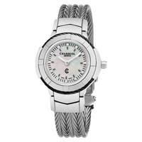 Charriol Men's CE426SB.640.010 'Celtic' Mother of Pearl Diamond Dial Stainless Steel Swiss Made Quartz Watch