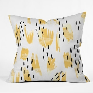 Deny Designs Abstract Yellow Indoor/Outdoor Reversible Throw Pillow (4 Sizes)