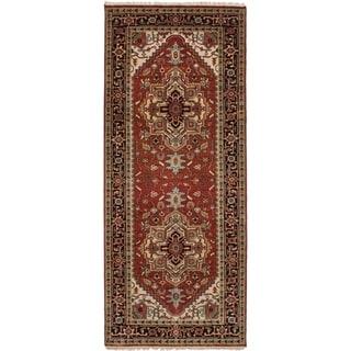 eCarpetGallery  Hand-knotted Serapi Heritage Dark Red Wool Rug - 4'2 x 10'1