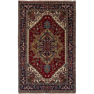 eCarpetGallery  Hand-knotted Serapi Heritage Red Wool Rug - 5'0 x 7'11