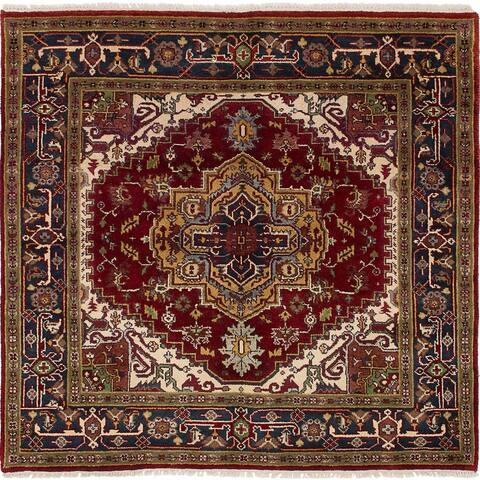 eCarpetGallery Hand-knotted Serapi Heritage Dark Red Wool Rug - 6'1 x 5'10