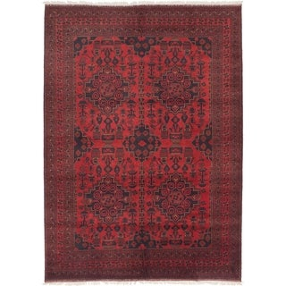 eCarpetGallery  Hand-knotted Finest Khal Mohammadi Red Wool Rug - 6'8 x 9'4