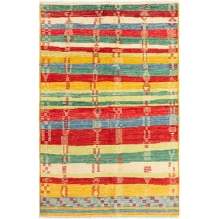 eCarpetGallery  Hand-knotted Shalimar Red Wool Rug - 6'0 x 8'10