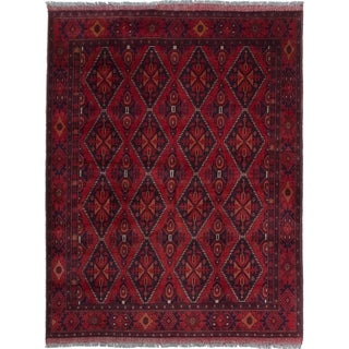 eCarpetGallery  Hand-knotted Finest Khal Mohammadi Red Wool Rug - 4'11 x 6'6