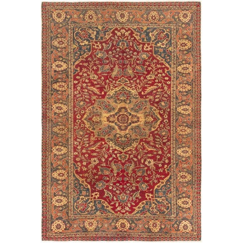 eCarpetGallery Hand-knotted Anatolian Vintage Dark Red Wool Rug - 6'7 x 9'6