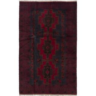 eCarpetGallery  Hand-knotted Kazak Red Wool Rug - 3'9 x 6'5