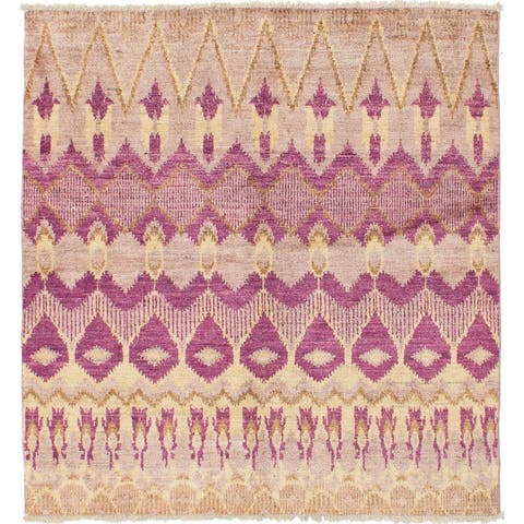 eCarpetGallery Hand-knotted Shalimar Beige Wool Rug - 5'0 x 5'0