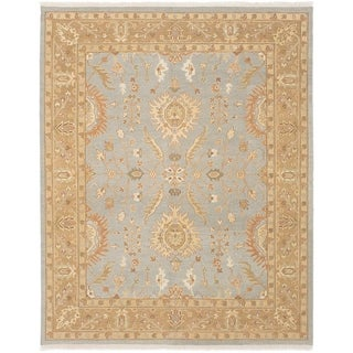 eCarpetGallery  Flat-weave Lahor Finest Light Denim Blue Wool Sumak - 7'10 x 9'10