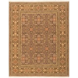 eCarpetGallery  Flat-weave Dynasty Brown Wool Sumak - 7'10 x 9'10