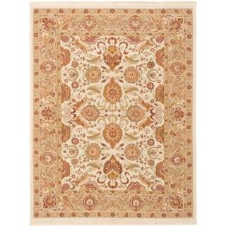 eCarpetGallery  Flat-weave Dynasty Cream Wool Sumak - 7'9 x 10'0