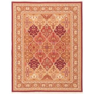 eCarpetGallery  Flat-weave Dynasty Red Wool Sumak - 7'11 x 10'0