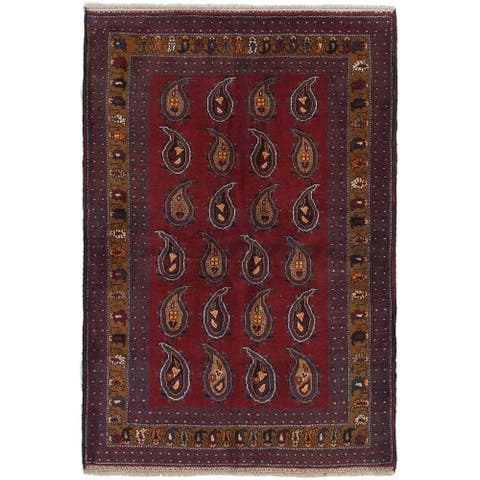 Hand-knotted Finest Rizbaft Copper Wool Rug